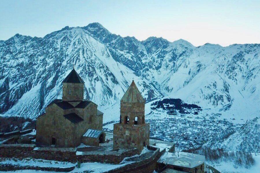 Gergeti kerk in Kazbegi