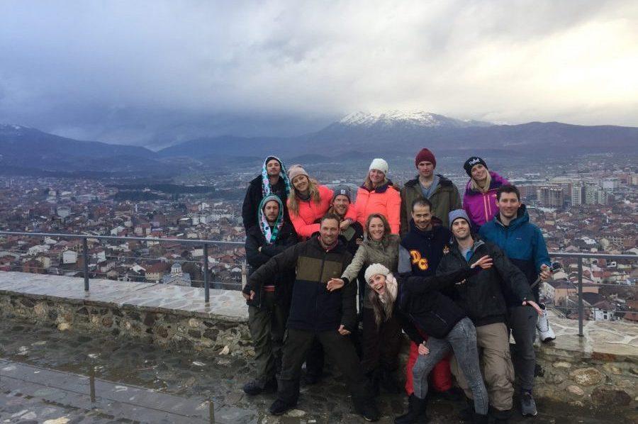 Groepsfoto Prizren Kosovo