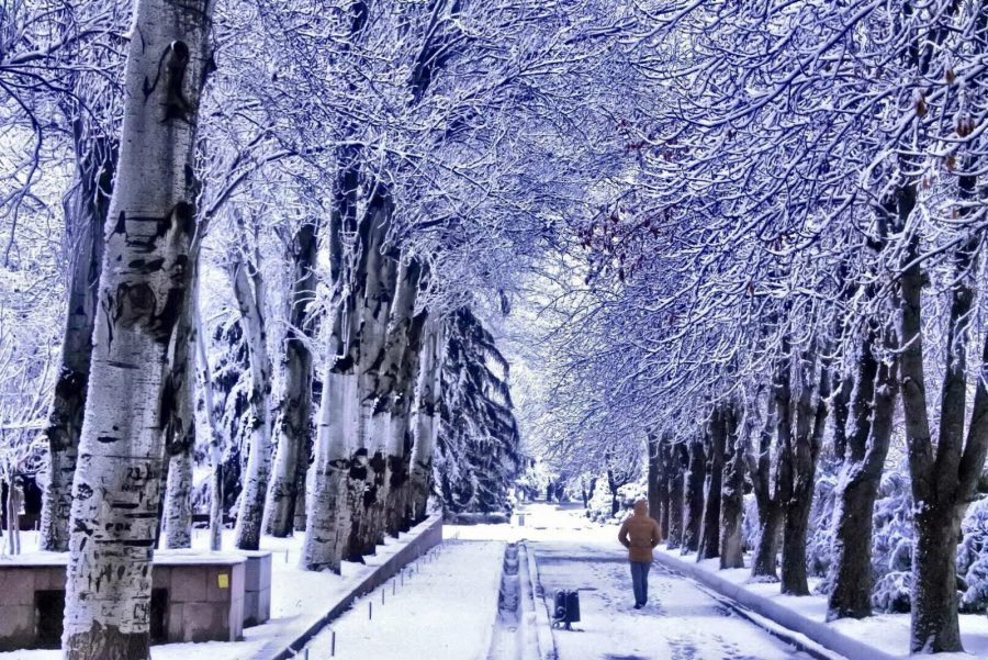 Sneeuw centrum Bishkek Kirgizië