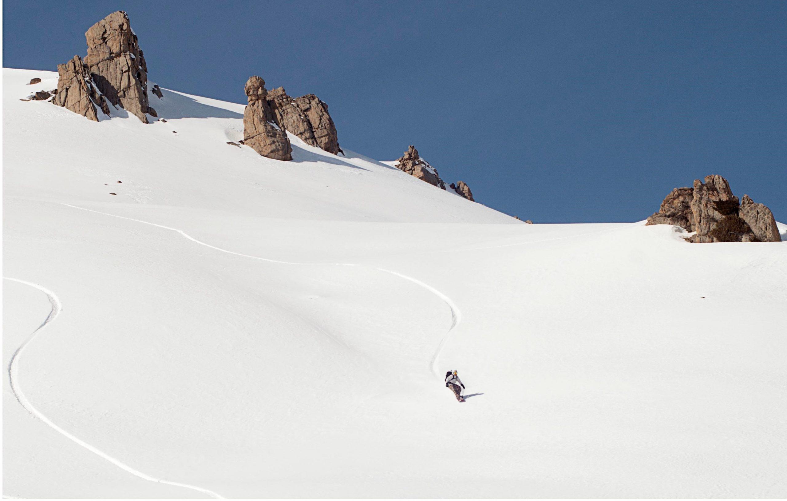 Snowboarden in Kazachstan