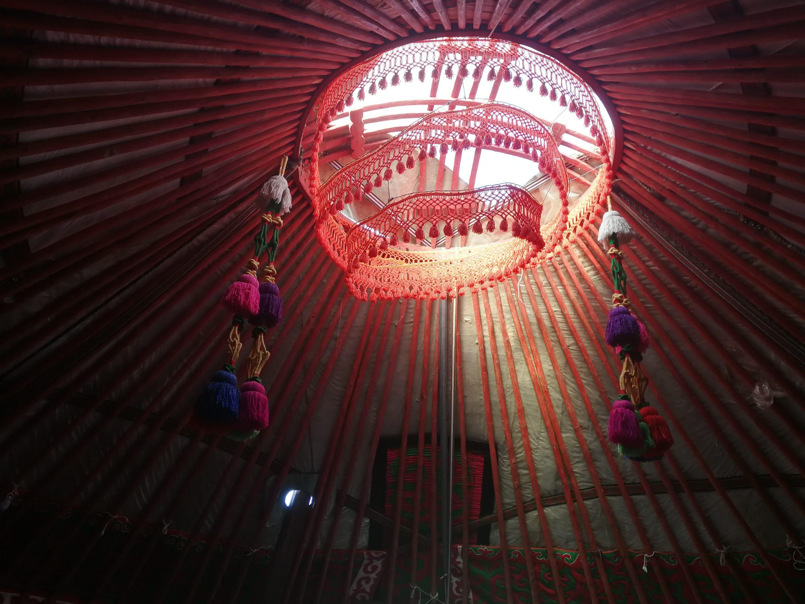 Binnenkant Yurt