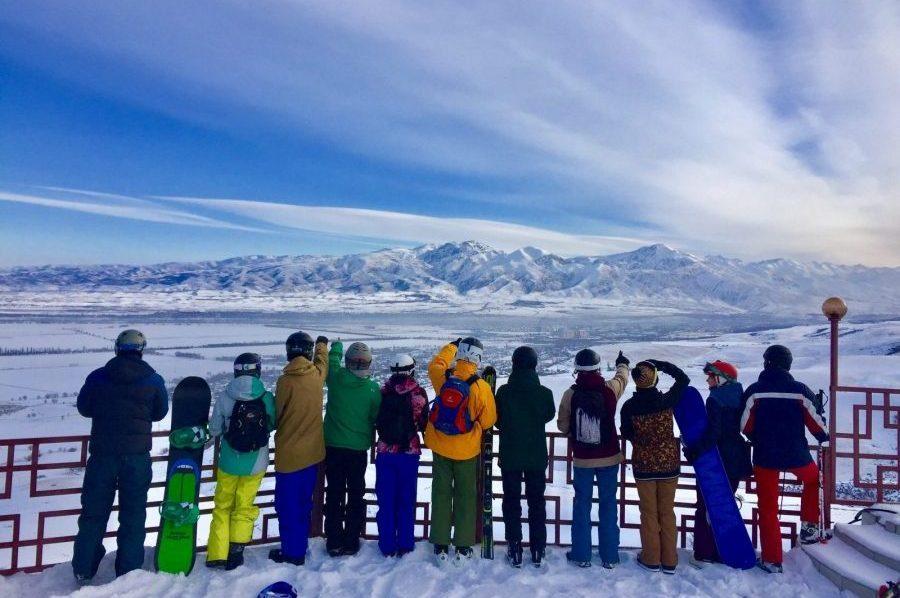 Uitzicht skigebied Kazachstan