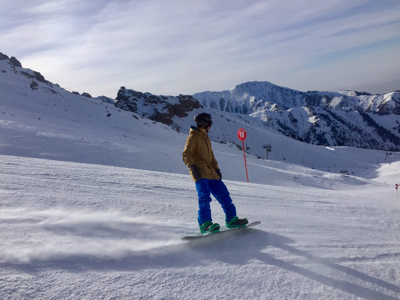 Bosse on the slopes of Shymbulak