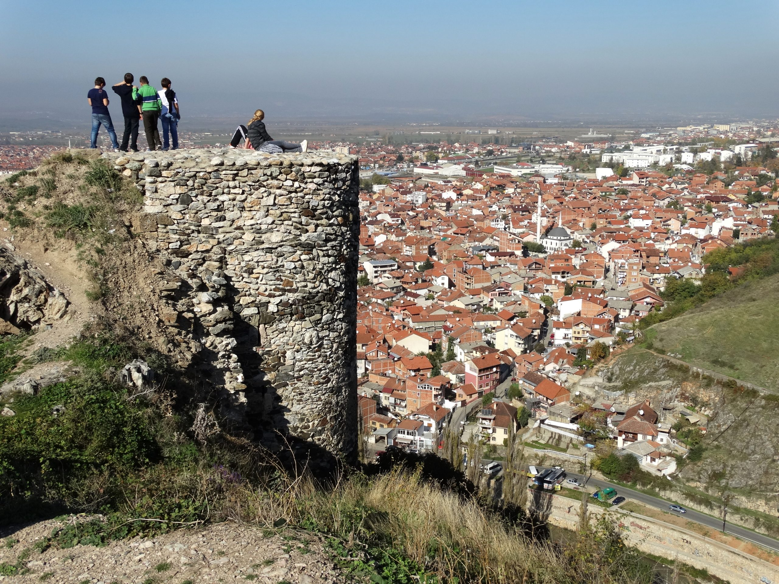Castle_Fortifications_with_City_Backdrop_-_Prizren_-_Kosovo