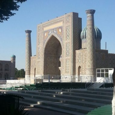 Registan view Oezbekistan